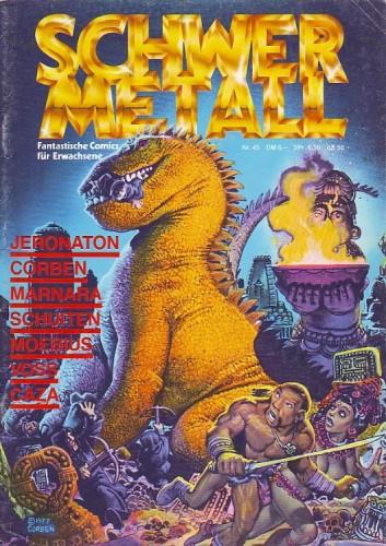 SchwerMetall n°45, couverture de Richard Corben