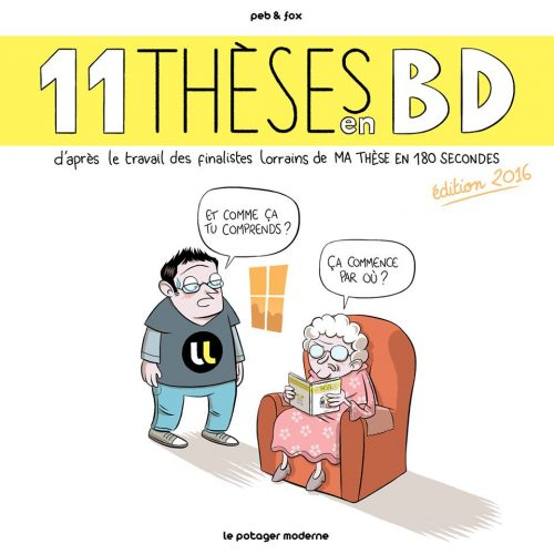 11 thèses en BD, couverture. Peb & Fox, 2016