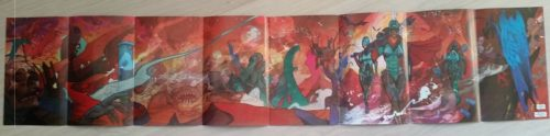 8-page foldout in Ward and Fraction's Ody-C #1 (2014)